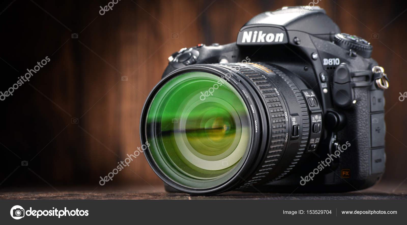 Nikon D810 Kamera mit Nikkor-zoom — Redaktionelles Stockfoto ...