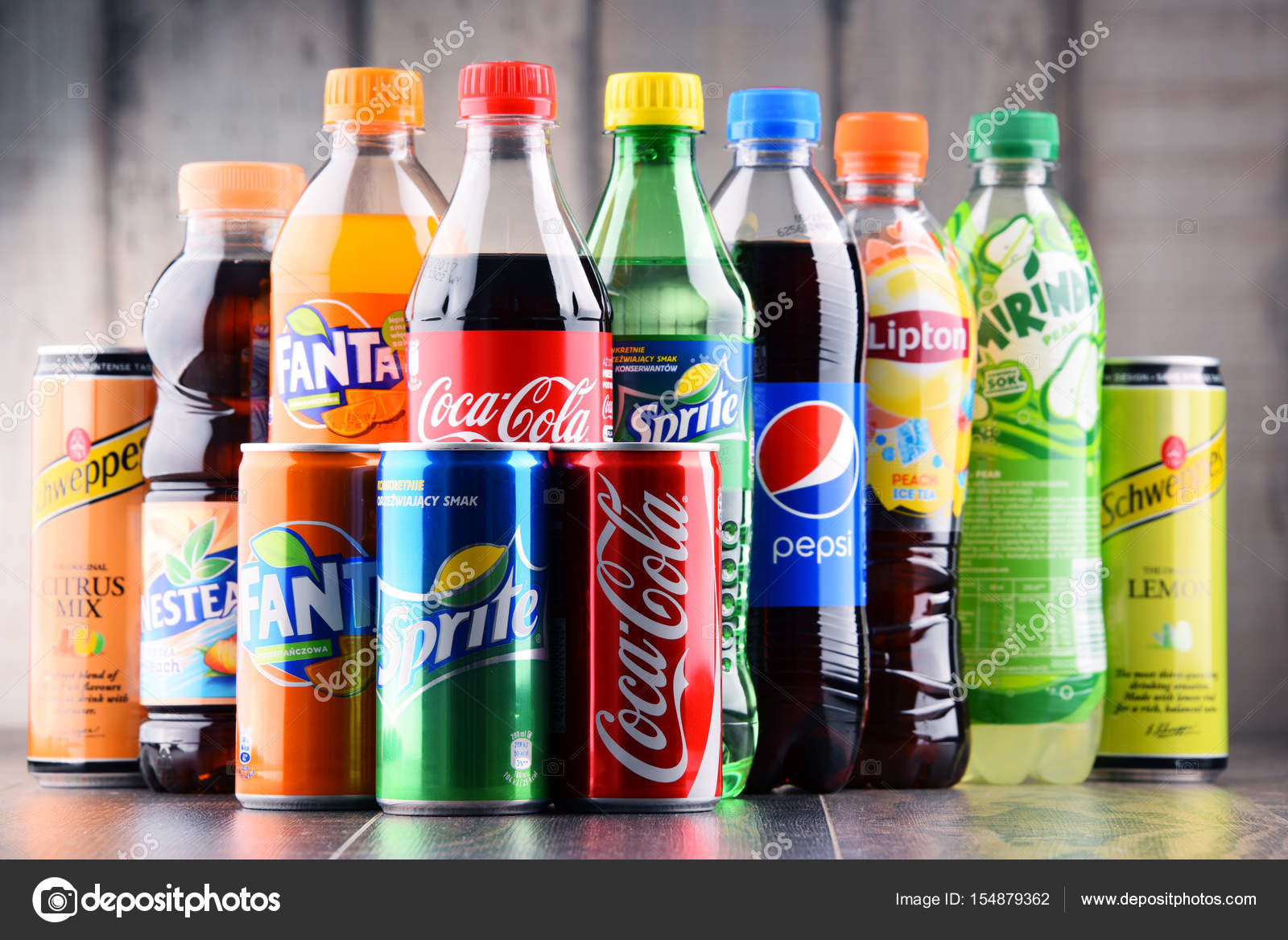 Bottles of assorted global soft drinks – Stock Editorial Photo