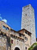 Fotografie Architektur von San Gimignano in der Toskana, Italien
