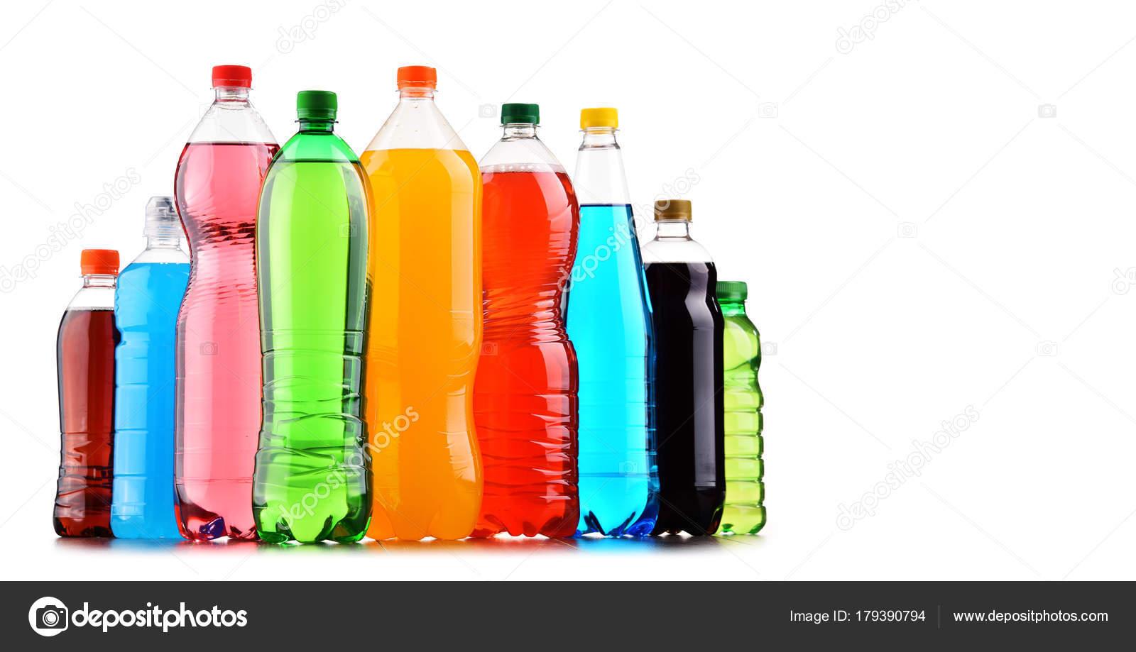 Kunststoff Flaschen Von Sortierten Kohlensäurehaltige ...
