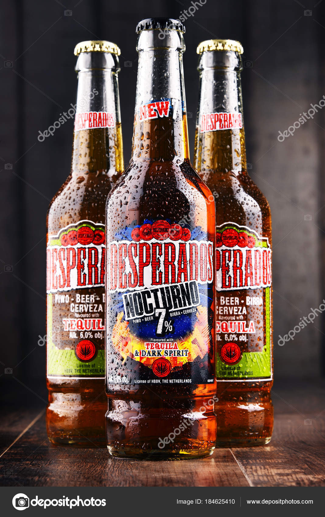 Three Bottles Of Desperados Beer Stock Editorial Photo C Monticello 184625410