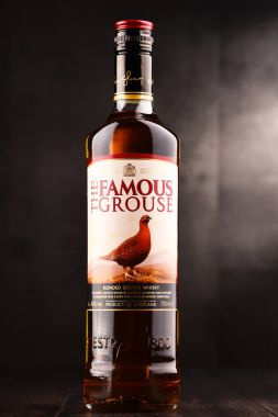 Bottle of The Famous Grouse whisky