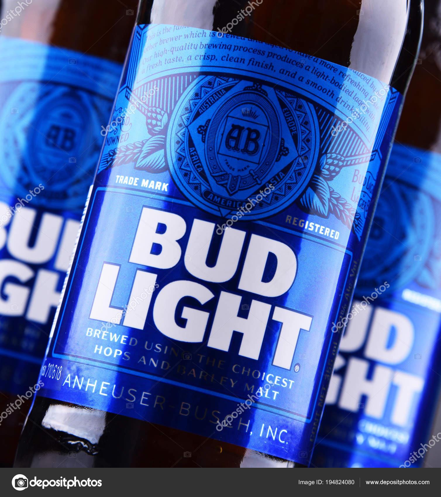 Botellas De Cerveza Bud Light U2014 Fotos De Stock