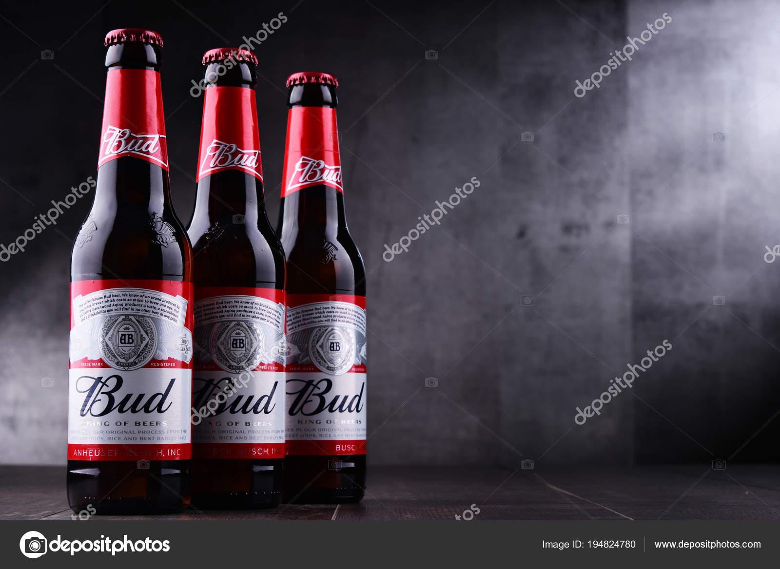 Cerveza bud ice | Botellas de cerveza Bud — Foto editorial