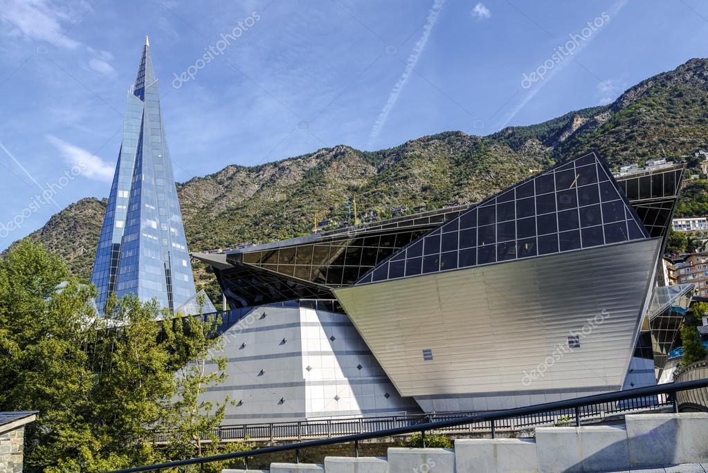 Balneary Spa Of Caldea In Escaldes Andorra Stock Editorial