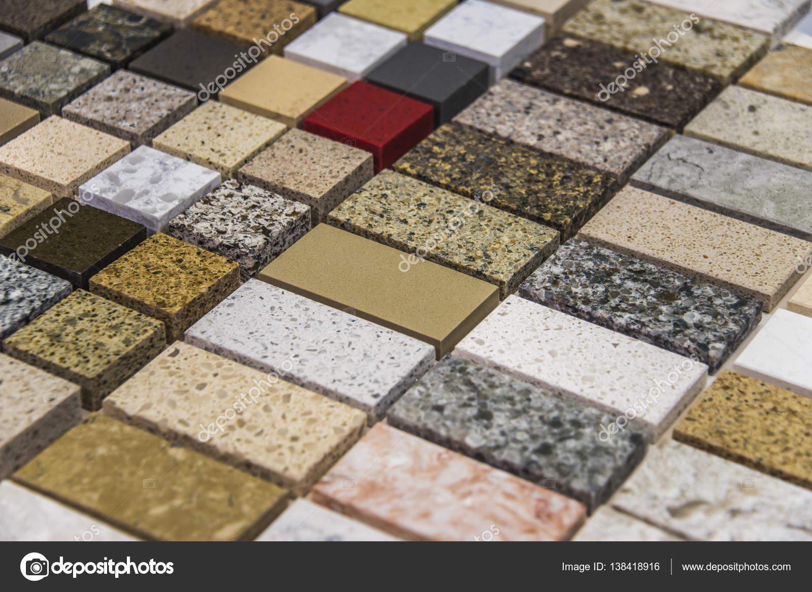 Colorida Plaza muestras de piedra naturales utilizadas como encimera ...