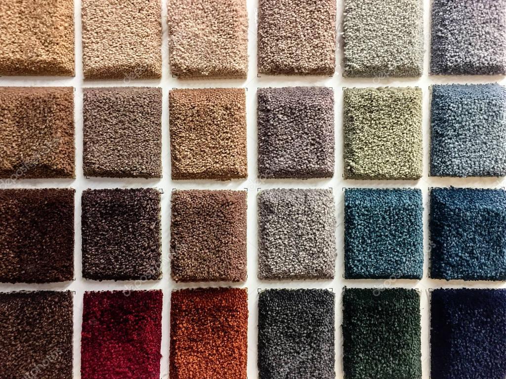 Carpet color samples. — Stock Photo © studiodin #152851534