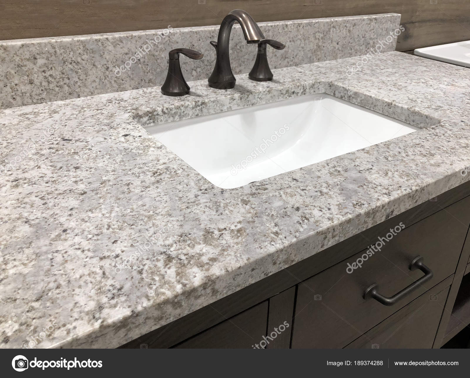 Miraculous Bathroom Vanity Granite Counter White Rectangular Sink Home Interior And Landscaping Eliaenasavecom