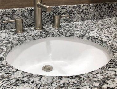 Granite countertop in a modern bathroom