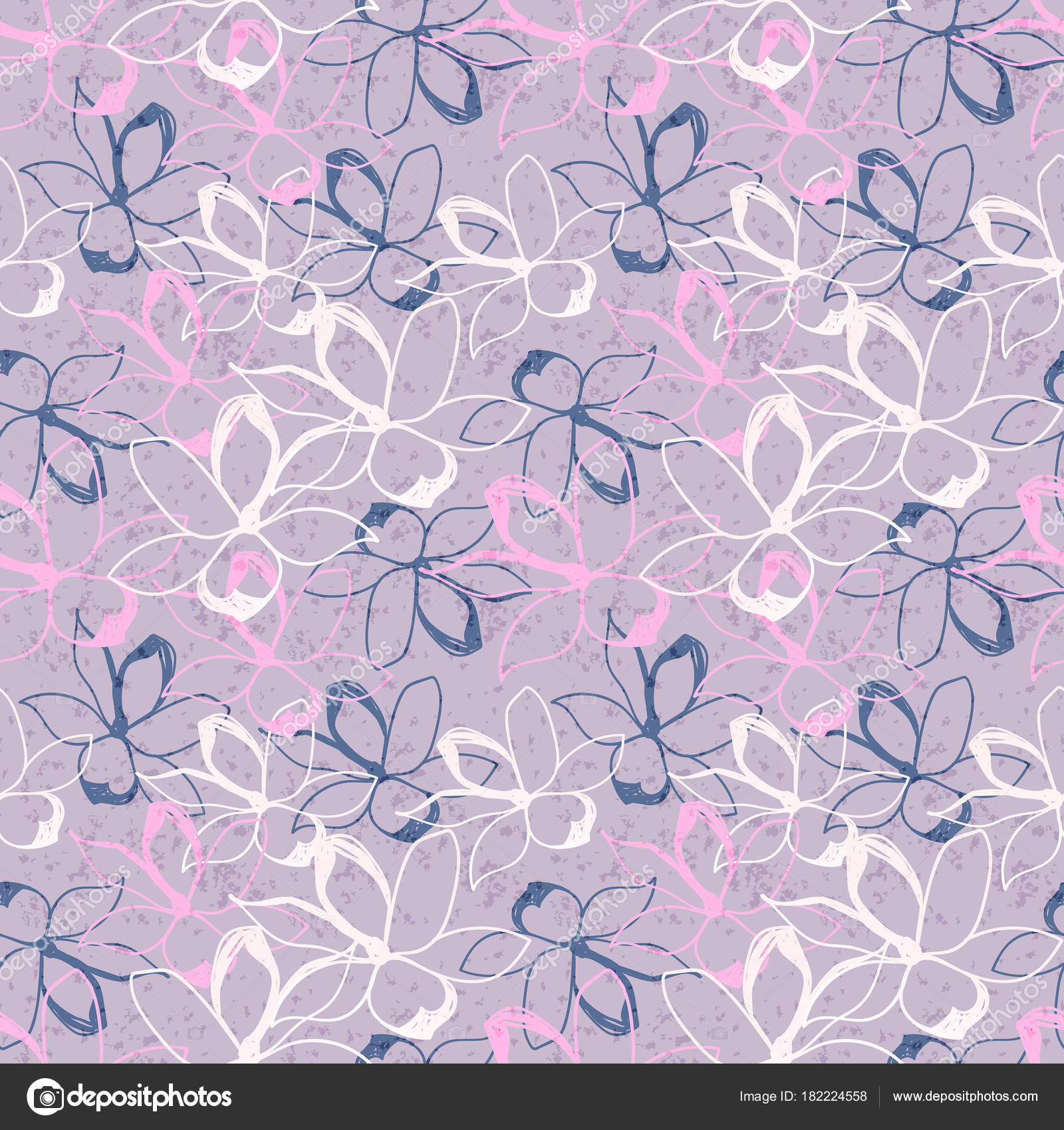 vector illustration design elegant floral seamless pattern