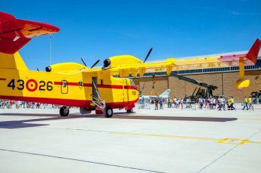 Seaplane Canadair CL-215 at exhibition