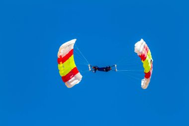 Parachutist of PAPEA in exhibition