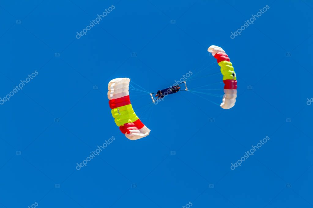 Parachutists of PAPEA on airshow