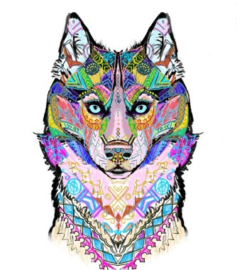 Husky Wolf Dog pattern