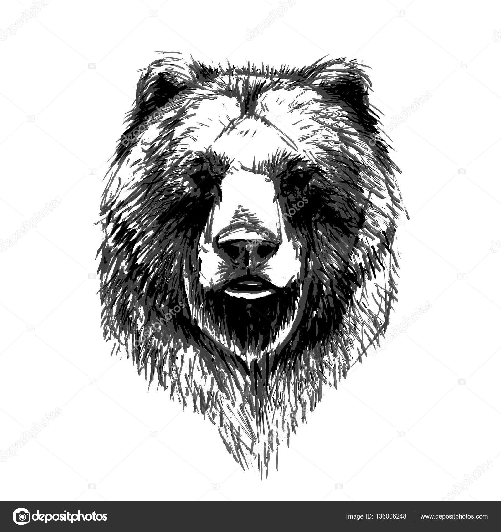 Bear Head Pattern Icon Stock Vector
