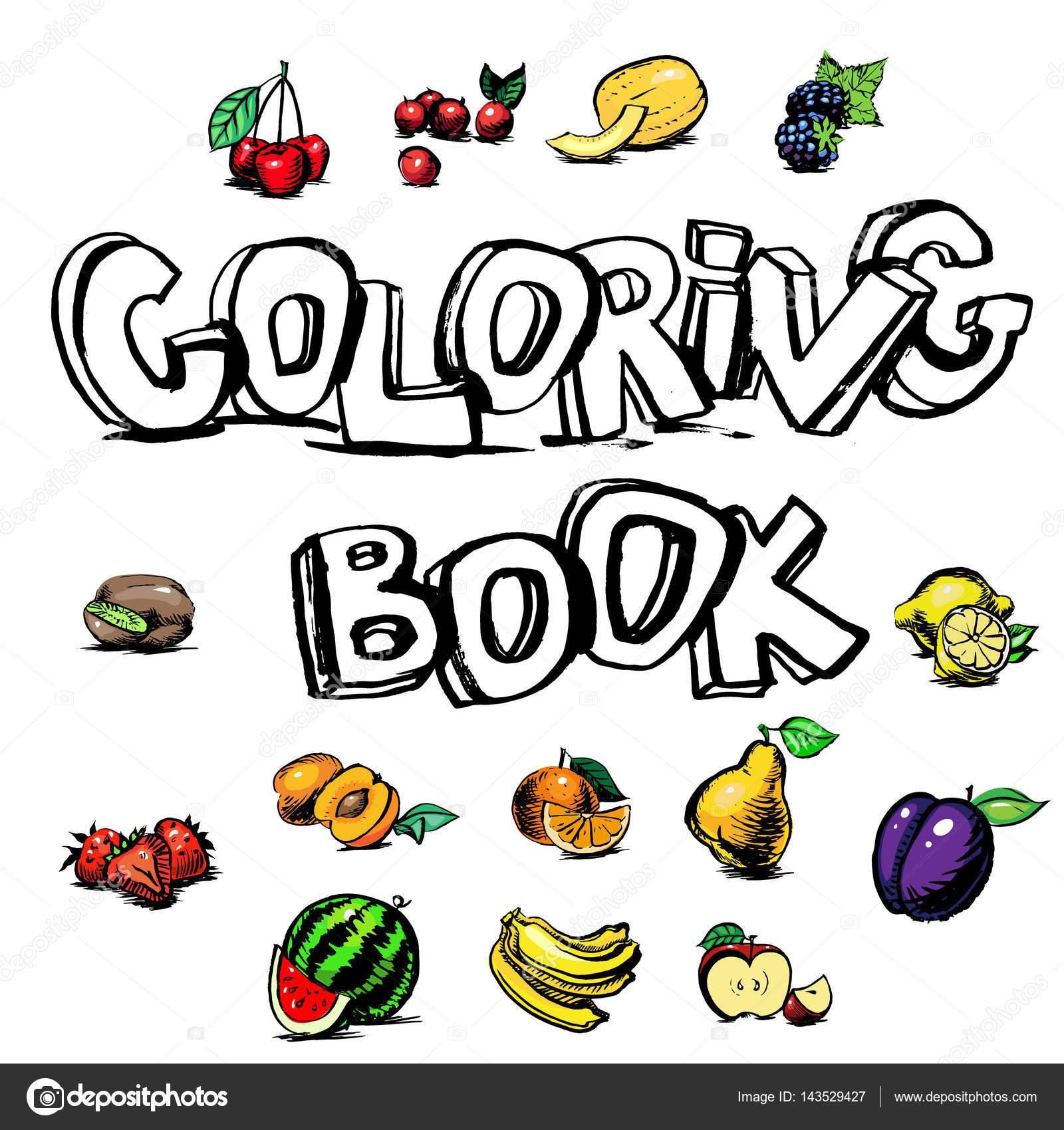 Libro Dibujo Vector De Letras Para Colorear Archivo Imagenes