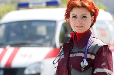 Positive female paramedic
