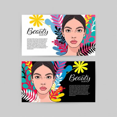 Two business cards for beauty salon