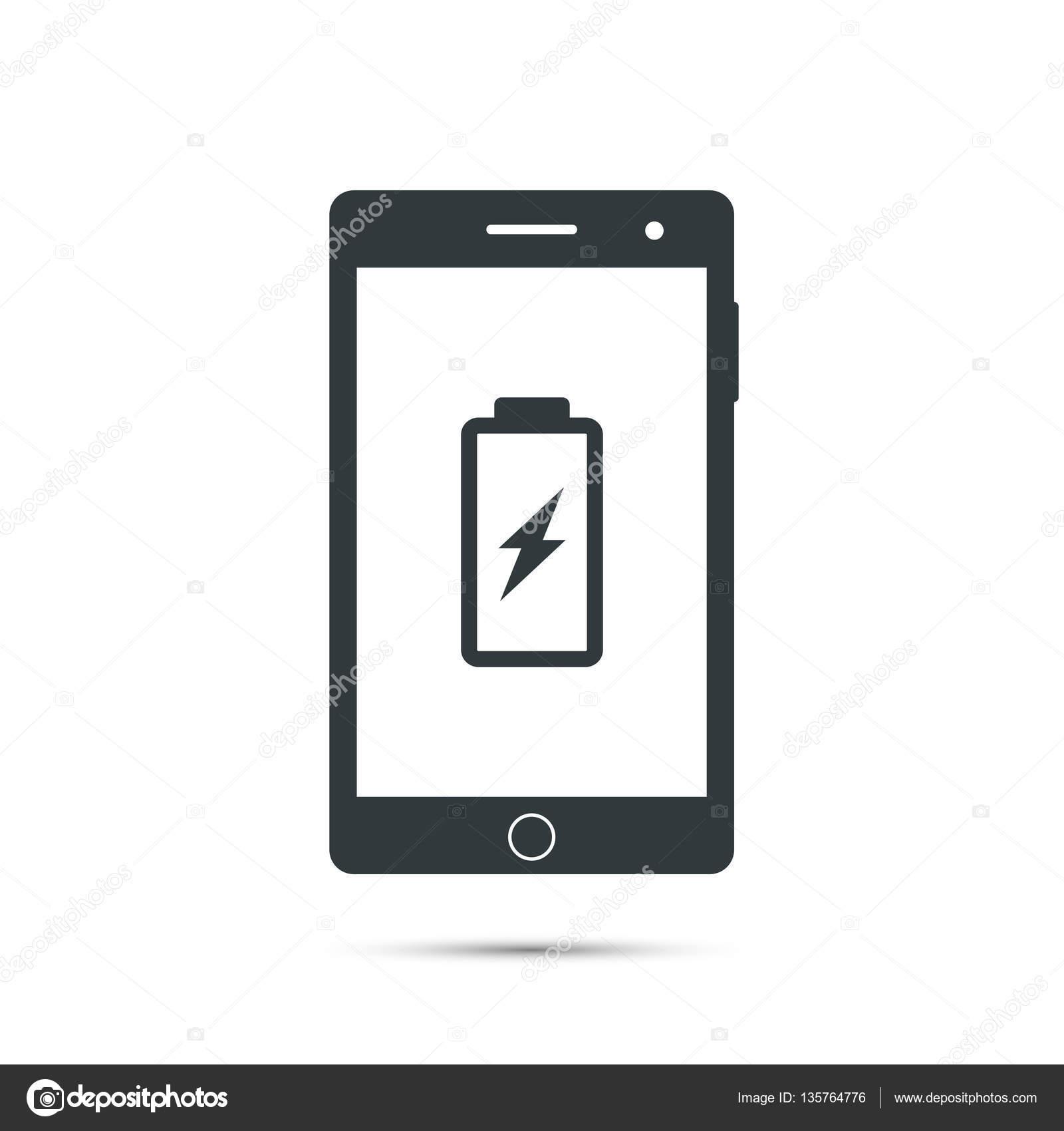 Smartphone Akku Ladesymbol. Vektor — Stockvektor © tatianasun #135764776