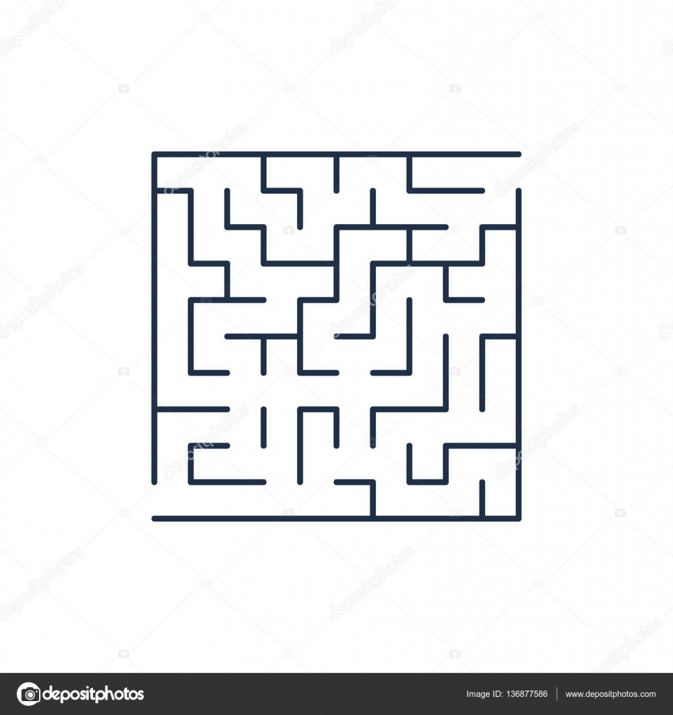 Stock Illustration Vector Easy Labyrinth Maze Or on File Maze Type Standard