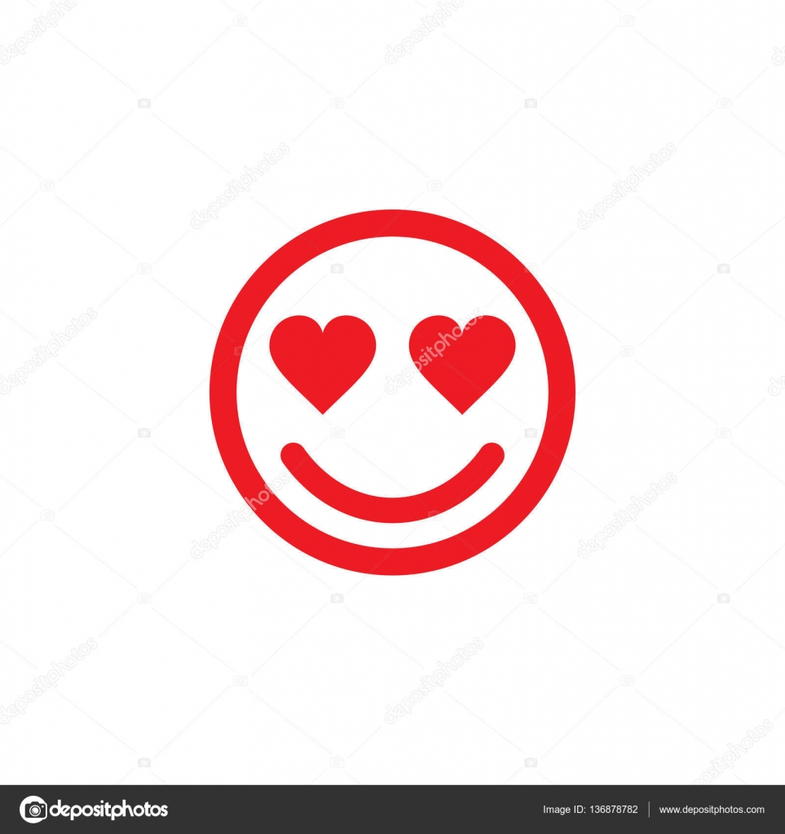 imágenes carita enamorada carita feliz en amor línea arte icono