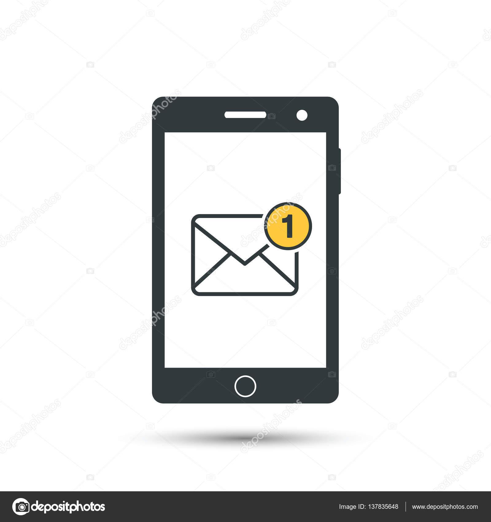 r ception de messages messagerie sur t l phone mobile sms entrants nouvelle lettre ic ne de. Black Bedroom Furniture Sets. Home Design Ideas