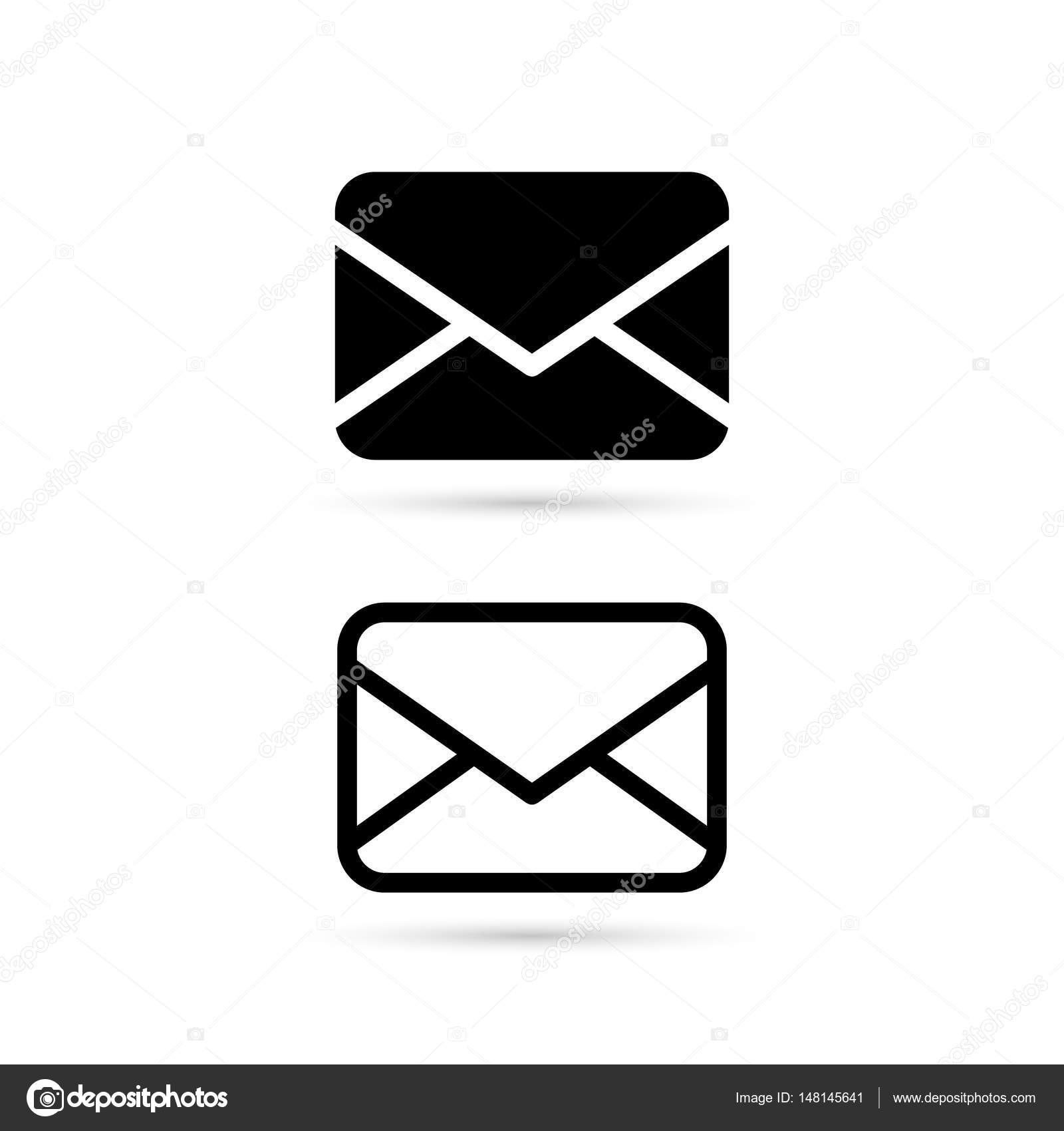 Envelope Icon In Flat Style Isolated On White Background Mail