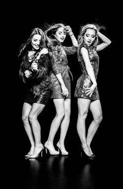 Gorgeous women dancing
