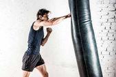 Kickboxen im Boxsack