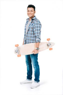 african american man with skateboard