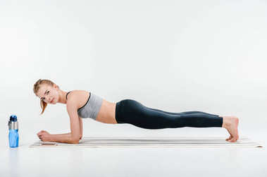 girl doing plank exercise