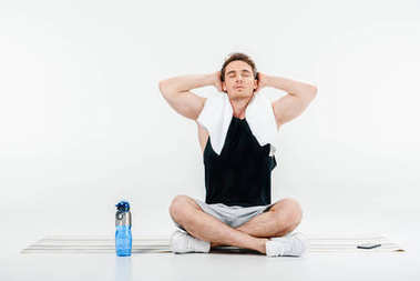man relaxing after workout