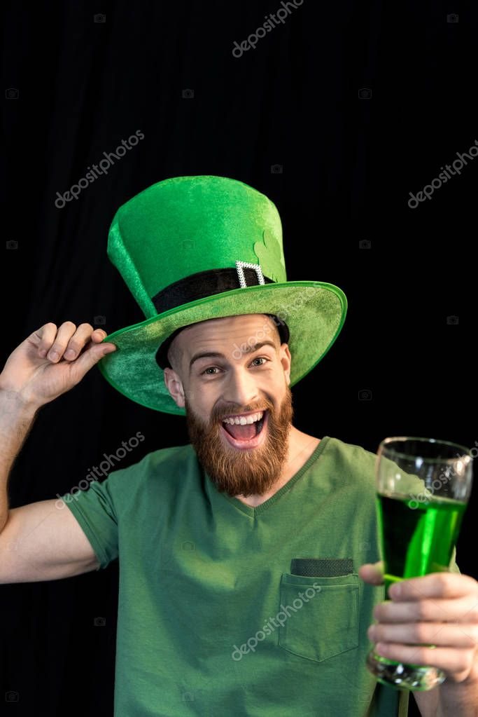 man celebrating St.Patrick's day