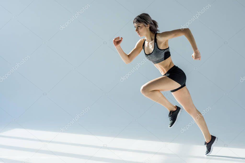 running sporty woman