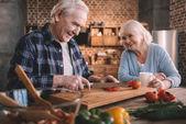 Fotografie Senior couple in kitchen