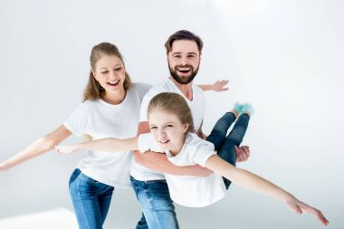 Happy young family