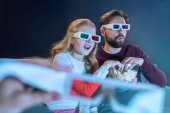 Fotografie Father and daughter in 3d glasses