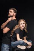 töprengő apa és lánya