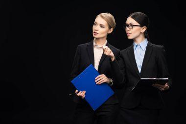 businesswomen connecting during work