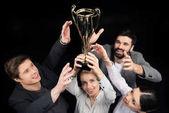 obchodní lidé hospodářství pohár