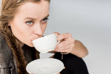 attractive woman with tea cup