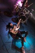 elektromos gitár játékos