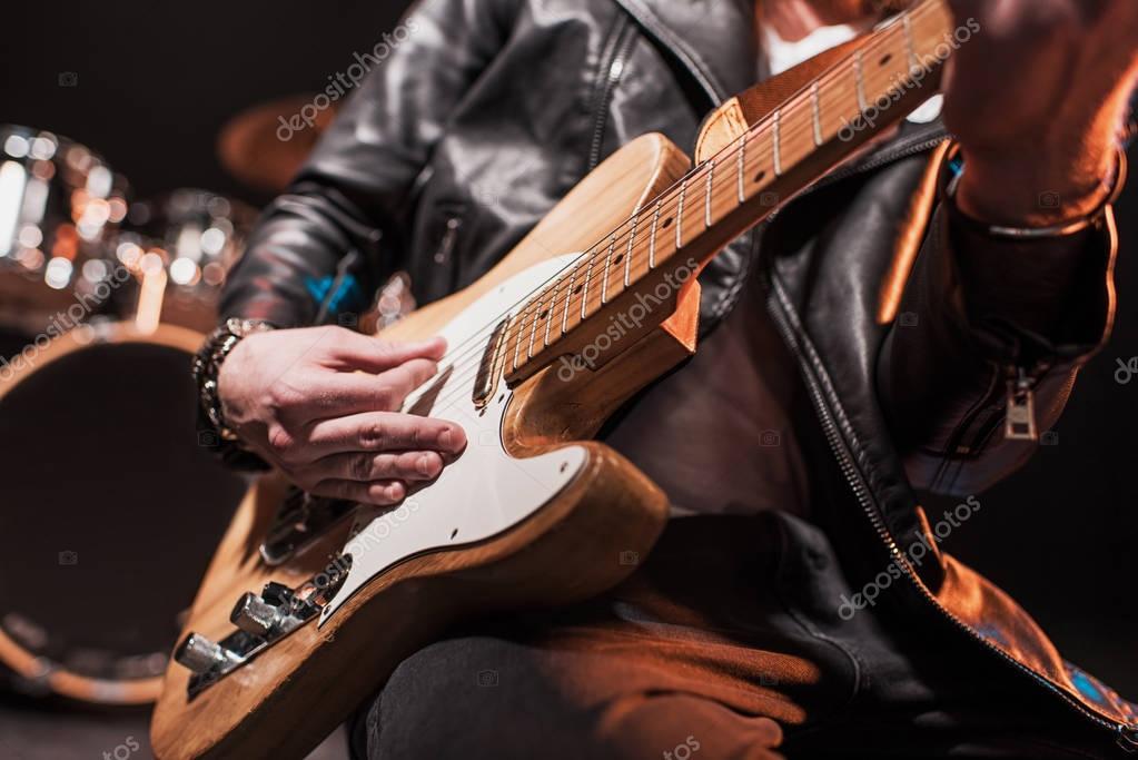 Electric guitar player