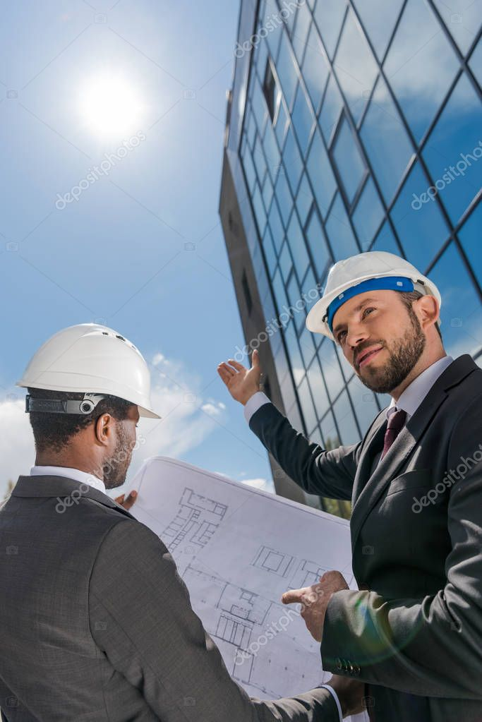 Professional architects working