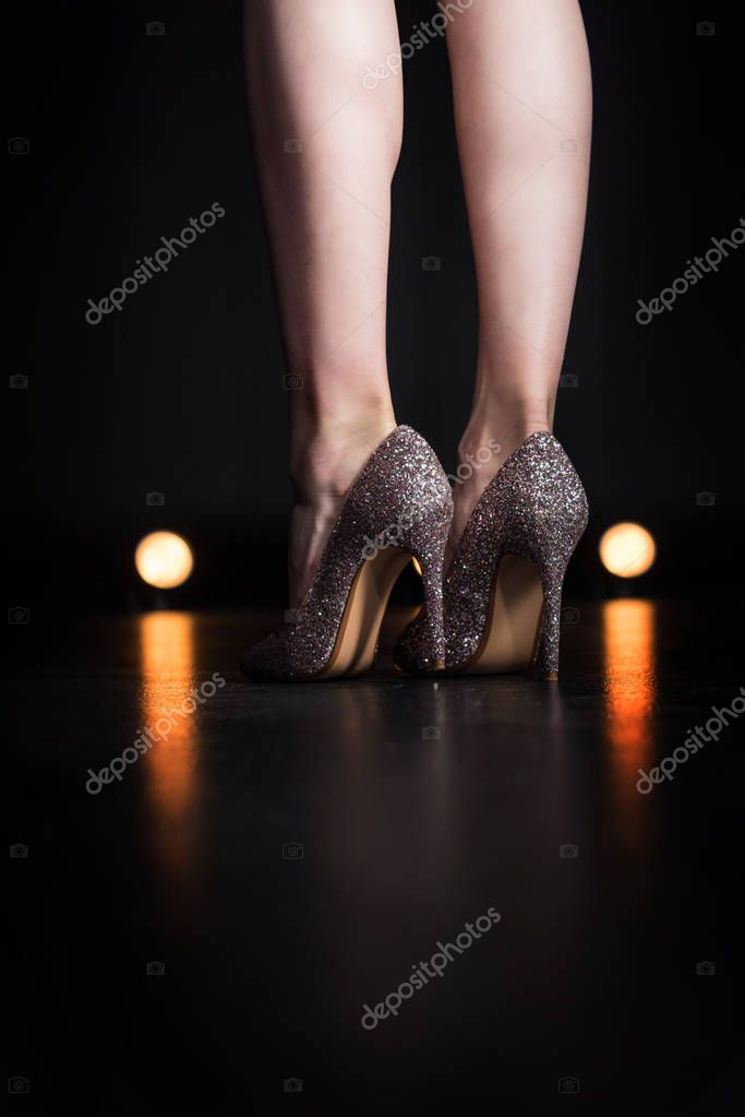 Woman in stylish high heels