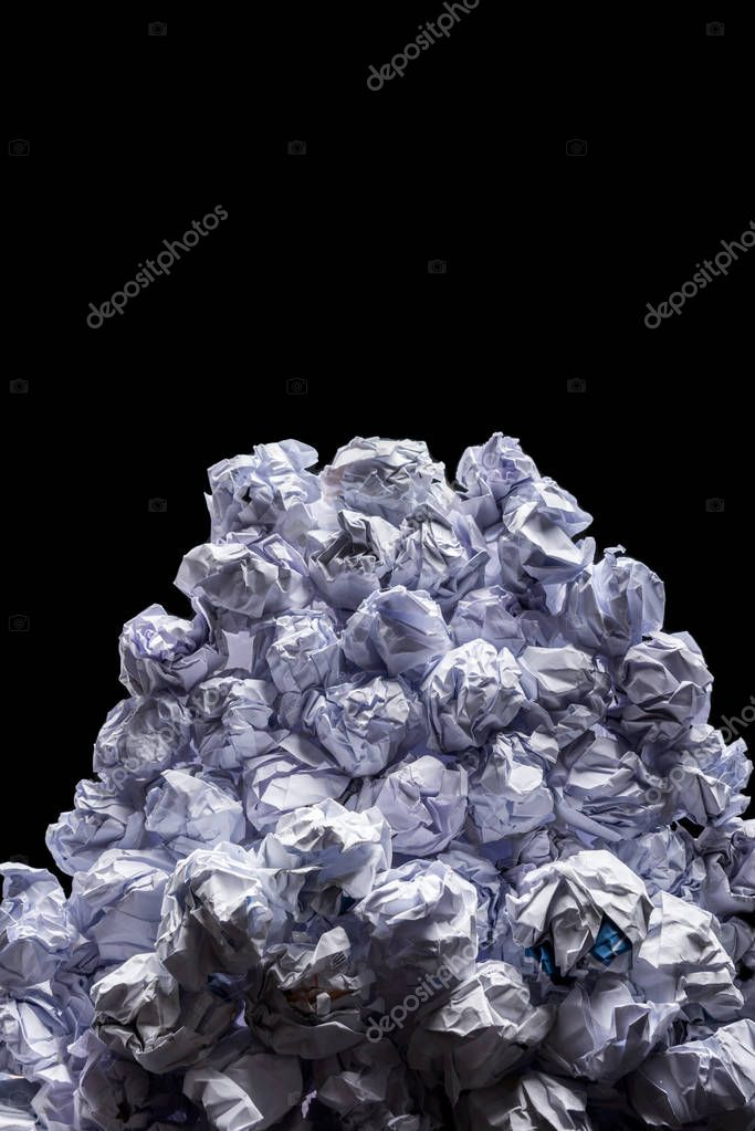 heap of crumpled papers