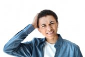 Photo emotional african american teen boy