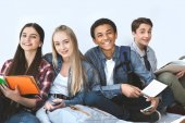 Fotografie multiethnic group of smiling students