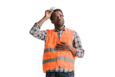 construction worker in safety vest