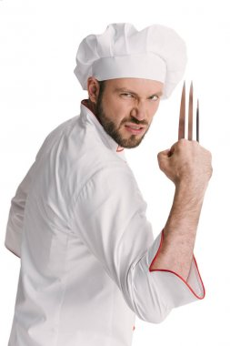angry chef with wolverine claws